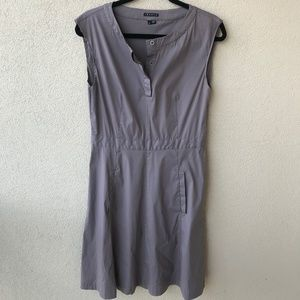 Theory Half Button Gray Shirt Dress